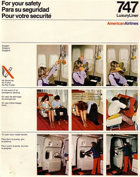 aa card airline safety cards aa 747 safety card jpg airbus