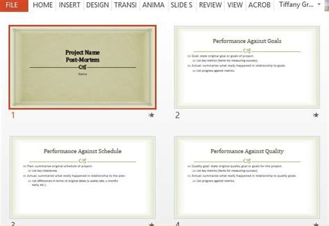 project post mortem template project post mortem powerpoint template