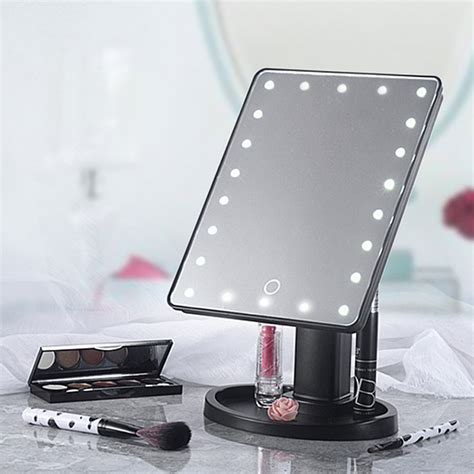 light up cosmetic mirror 20 led lights vanity makeup mirror touch screen lighted