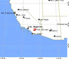 palm springs california map