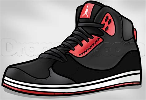Drawing Jordans how to draw jordans step by step fashion pop culture
