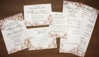 persimmon and green fall floral wedding stationery emdotzee designs