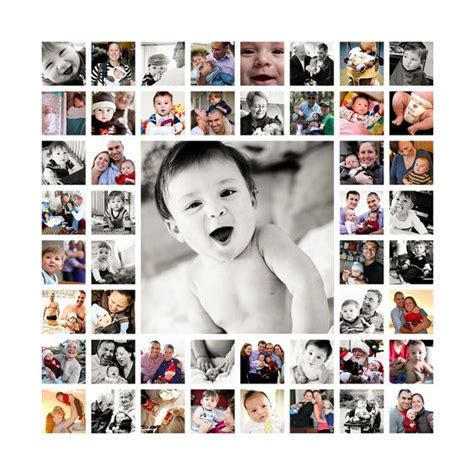 baby s year collage templates 20 quot x20 quot photo collage design print ready flattened jpeg