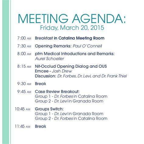 agenda national sales meeting 2015