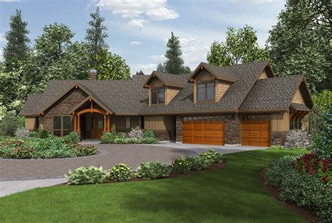 Craftsman Ranch House Plans With Walkout Basement Walkout Rancher House Plans