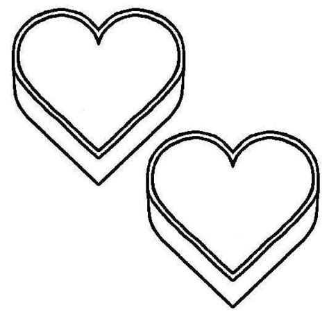 clipart heart coloring page blank heart template clipart best