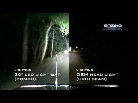 Led Light Bar Comparison Rigid Industries 30 Quot Led Light Bar Oem Light Side By Side Comparison