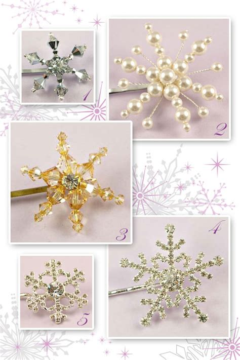 Wedding Hair Accessories Snowflake by Snowflake Hair Accessories 171 Flutterby Weddings