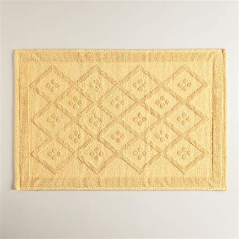 cornsilk yellow woven bath mat world market