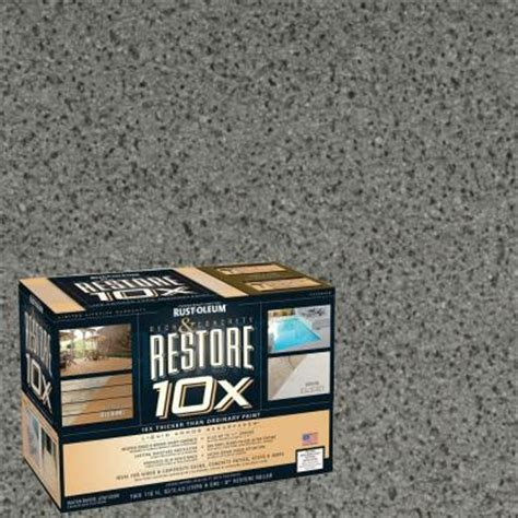 rust oleum restore  gal gray deck  concrete
