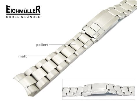 Rolex Stahlband Polieren by Uhrenarmband Eichm 252 Ller Edelstahl Passend F 252 R Rolex 20mm