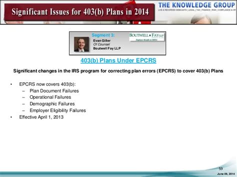 erisa section 102 significant issues for 403 b plans in 2014 live webcast