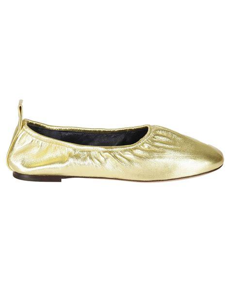 classic flat shoes classic ballerinas gold s flat