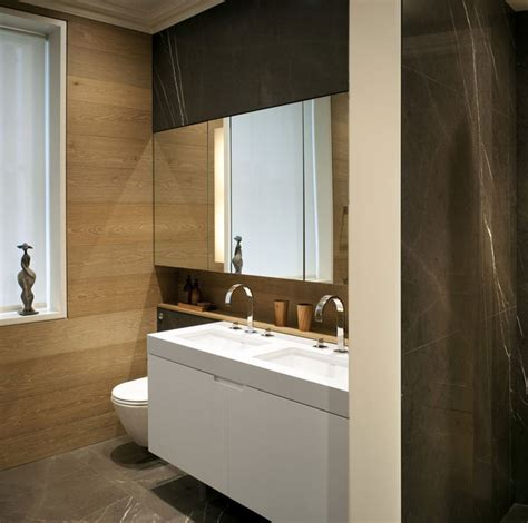 wood paneling in bathroom еlegant modern living space by tg studio interiorzine