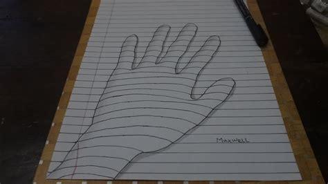 tutorial gambar tangan 3d cara mudah menggambar ilusi optik seni trik tangan 3d