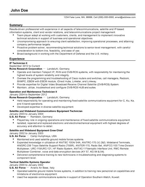 Persuasive Briefformat Professional Telecommunications It Professional Templates To Showcase Your Talent Myperfectresume