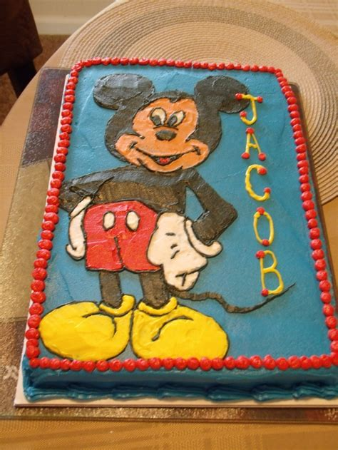 ideas  mickey mouse cake decorations  pinterest mickey party mickey mouse st
