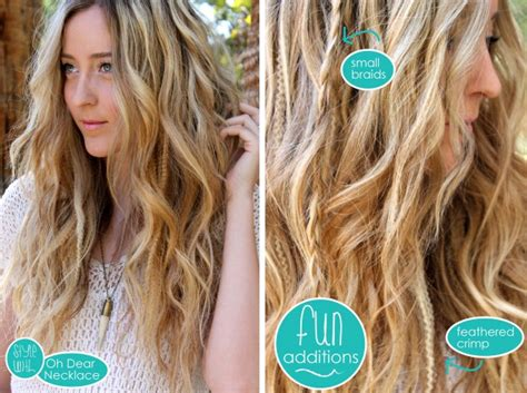easy beachy waves hair tutorial diy sea salt spray curly hairstyle have beach waves tutorials medium hair