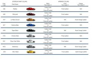 nissan color codes 350z paint code chart