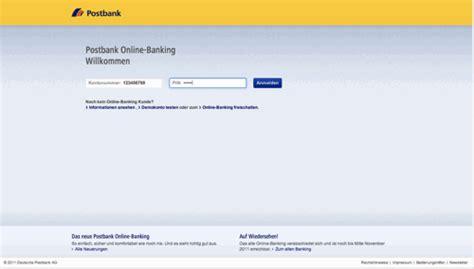 postbank de bank gelungen das neue postbank banking praegnanz de
