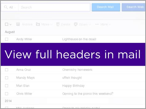 yahoo email header mail for desktop sln22026 view email headers