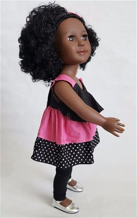 black doll uk 18 inch american doll with curly hair
