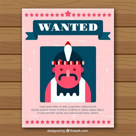 creative poster design vector free download creative western criminal poster in flat design vector