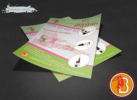 leaflet design chesterfield annual leaflet for fitness trainer based in chesterfield