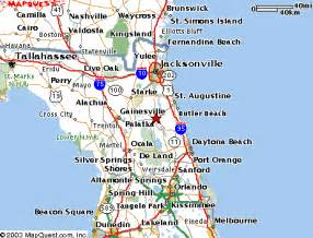 map of east coast of florida cities northeast florida map