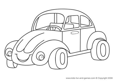 cartoon car coloring pages for kidsfree coloring pages for