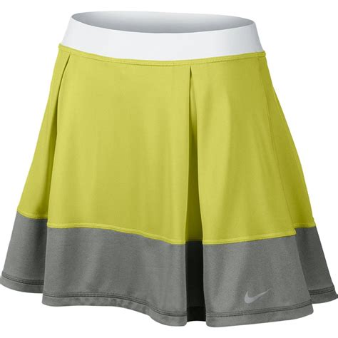 nike dri fit knit s tennis skirt venomgreen grey