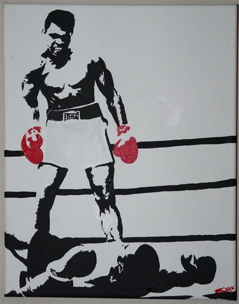 ali stencil flickr photo sharing 11x17 muhammad ali painting by me my art work for ale