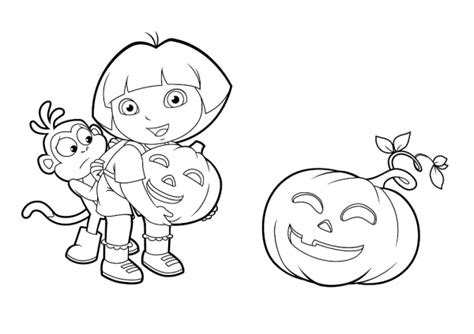 halloween coloring pages dora halloween coloring pages dora cartoon coloring pages