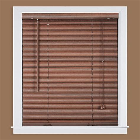 Mahogany Faux Wood Blinds Madera Falsa Mahogany 2 In Faux Wood Plantation Blind