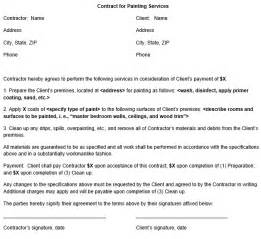 Painters Contract Template by Painting Contract Form Template