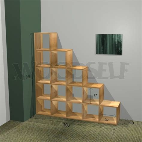 Cube Bookcase Plans Cool For Desktop Organizer Stair Bookcase Woodworking