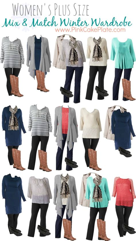 Mix And Match Wardrobe Pieces by Plus Size Mix And Match Winter Fashion Great Wardrobe