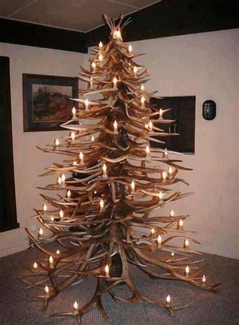 shed antler christmas trees      festive spirit