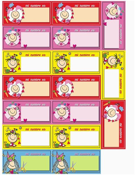 imagenes escolares para imprimir gratis m 225 s de 25 ideas fant 225 sticas sobre etiquetas de nombre