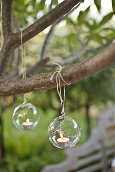 Garden Hanging Decor Glass Hanging Tealights For Garden Wedding Decoration 893368 Weddbook