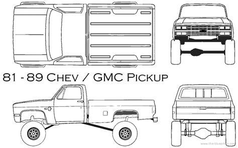 draw blueprints 1981 chevy truck drawing blueprints gt cars