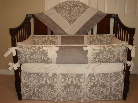 Pink And Gray Damask Crib Bedding Baby Bedding Crib Set Gray Damask Light Pink Reserved For Leigh F