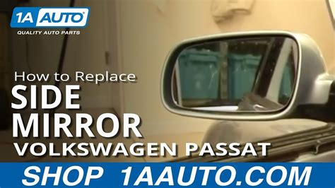 install replace side rear view mirror volkswagen