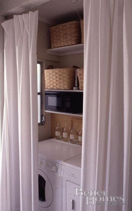 curtains to hide washer and dryer 1000 ideas about laundry room curtains on pinterest