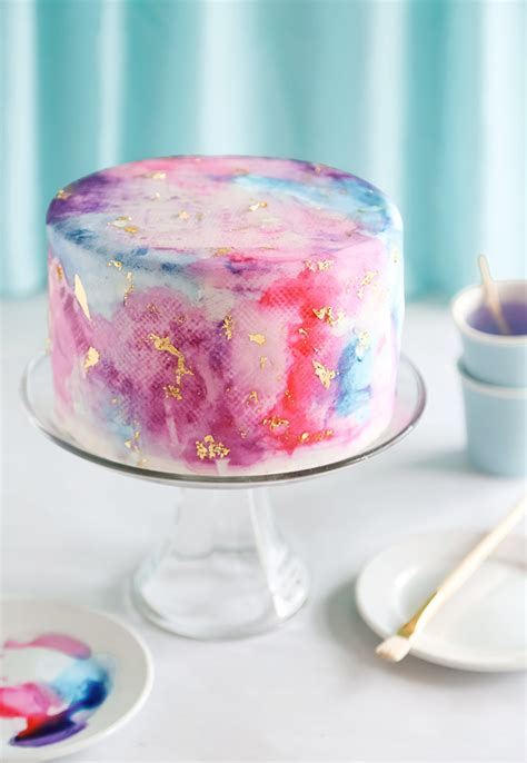 water color cake watercolor graffiti chocolate cake sprinkle bakes