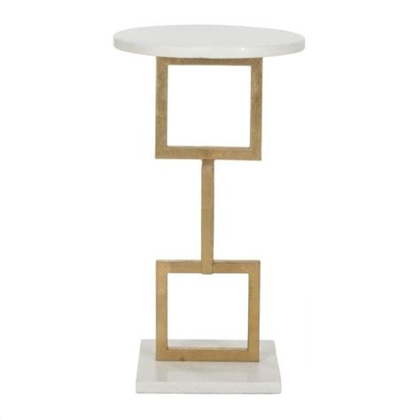 Marble Accent Table Safavieh Cassidy Iron And Marble Accent Table In Gold And White Fox2531b