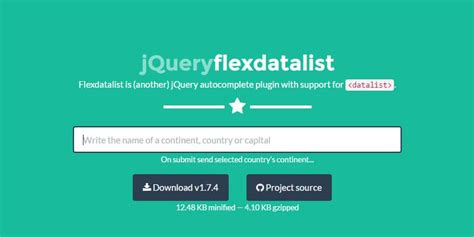 jquery mobile autocomplete flexdatalist is another jquery autocomplete