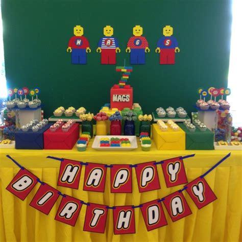 lego themed birthday decorations lego themed 7th birthday one charming day