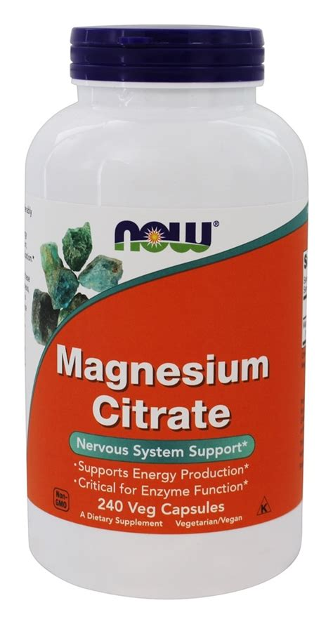 Magnesium Citrate Detox Diet by Buy Now Foods Magnesium Citrate Nervous System Support