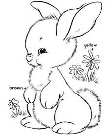 Cute bunny free printable easter bunny coloring page activity sheets